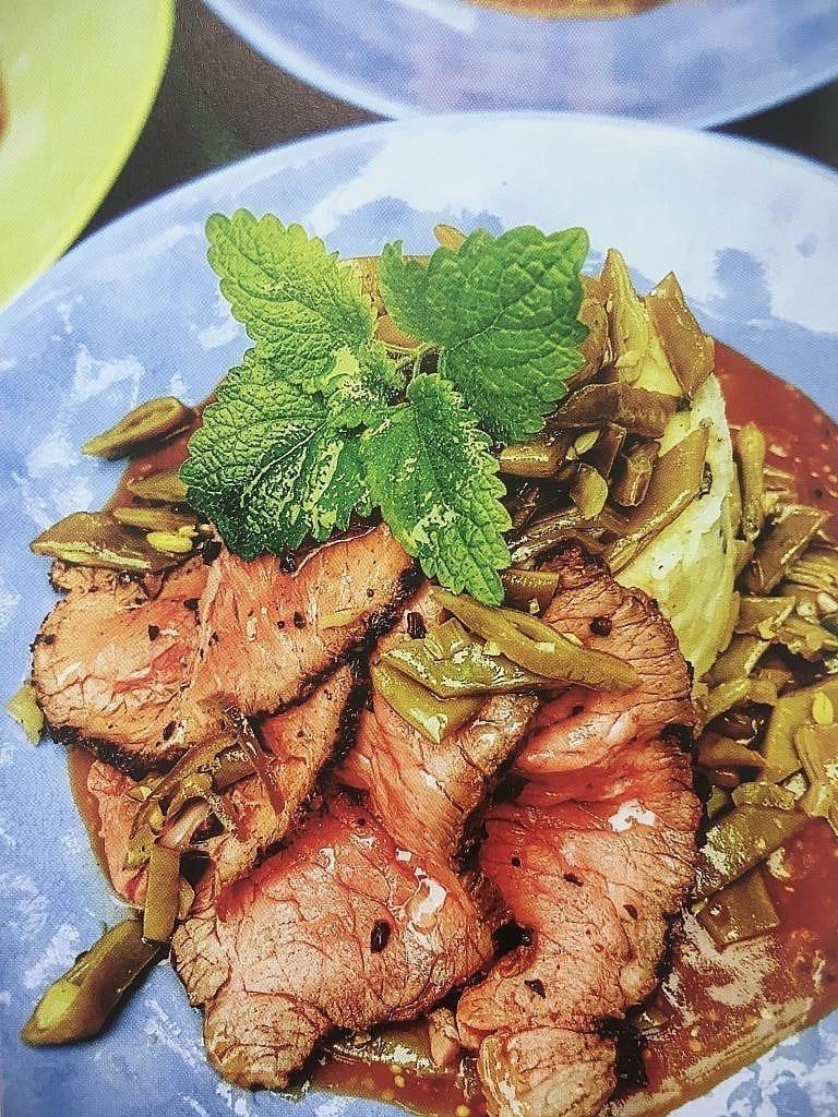 Roast beef met pittige snijbonen